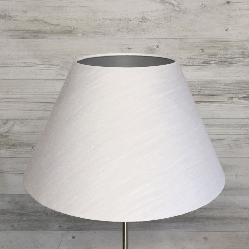 White & Silver Empire Lampshade